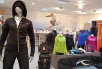 Kjus sport wear display